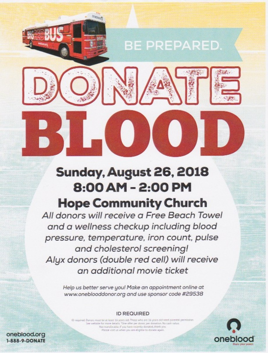 Blood Drive / Hope Community Church